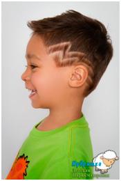 Рисунки на волосах детские
